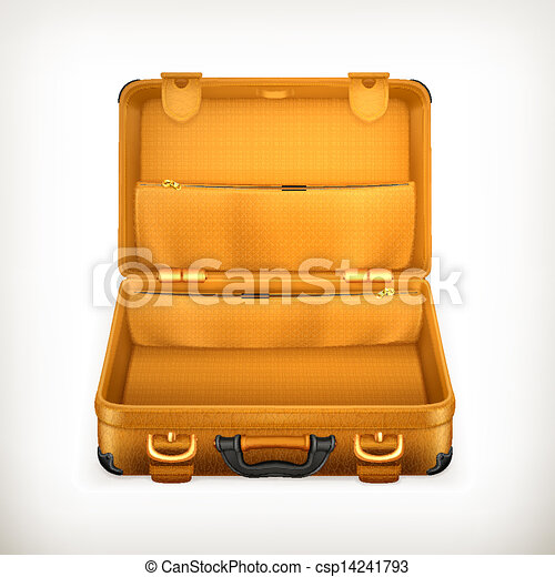 Open Suitcase, vector - csp14241793