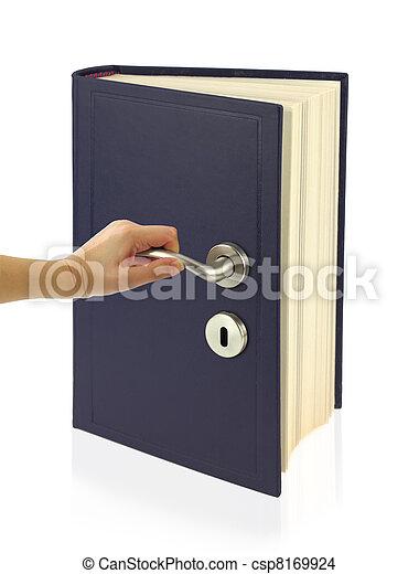Open the door of knowledge - csp8169924