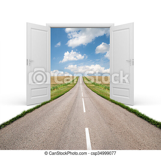Open the door to a new reality - csp34999077