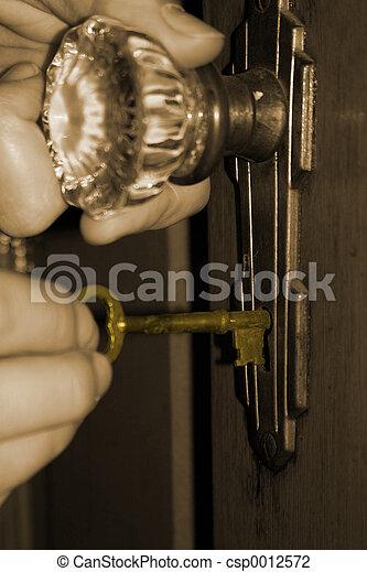 Open The Old Door - csp0012572