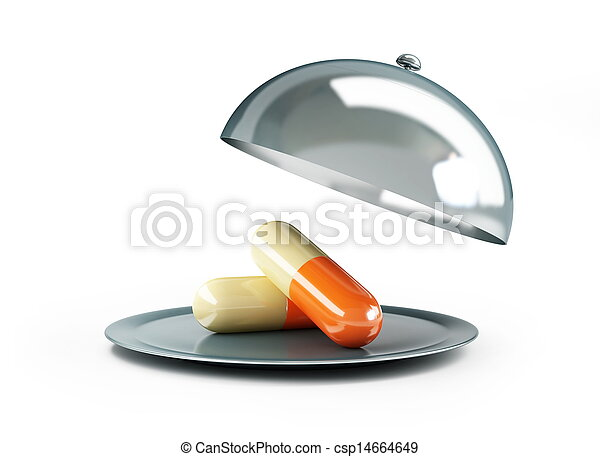 open tray pills - csp14664649