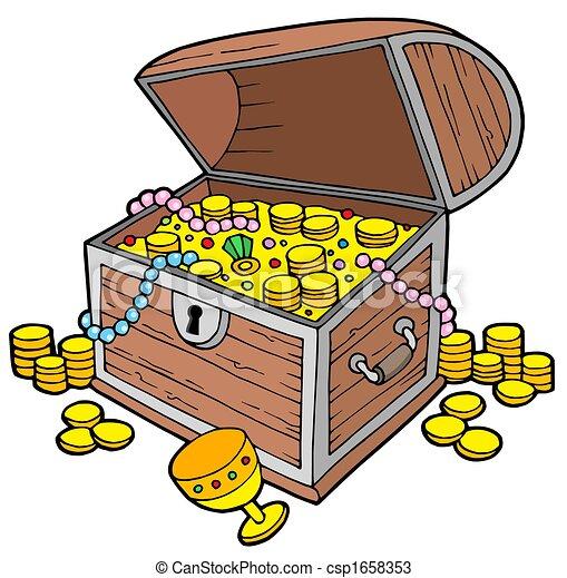 Open treasure chest - csp1658353