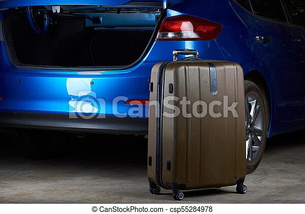 Open trunk of modern car - csp55284978