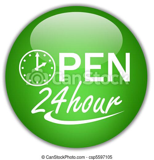 Open twenty four hour - csp5597105