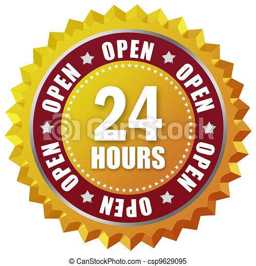 Open twenty four hour - csp9629095