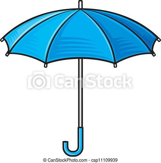 open umbrella (blue umbrella) - csp11109939