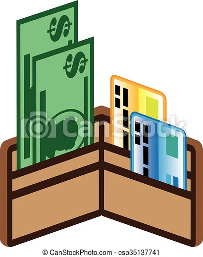 Open wallet clipart