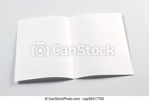 open white blank brochure a4 a5 flyer for mockup