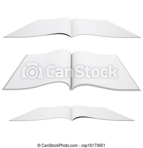 Open white book - csp16173651