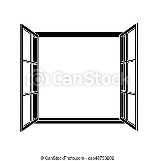 open window frame icon add your own image or text vector vector rh canstockphoto com  free window frame clipart