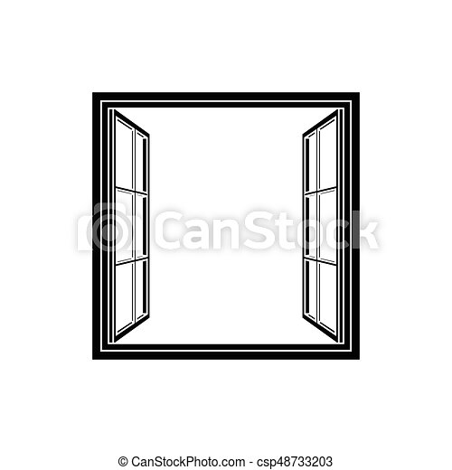 open window frame icon add your own image or text vector vector rh canstockphoto com  white window frame clipart