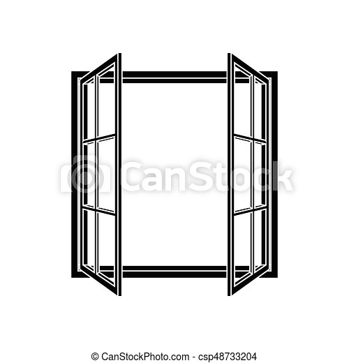 Open window frame icon. add your own image or text. vector ...