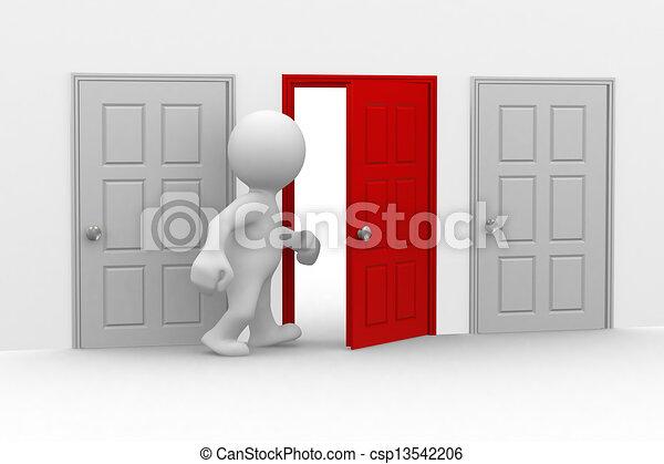 half open door drawing. Beautiful Open Open Your Door  Csp13542206 Intended Half Door Drawing