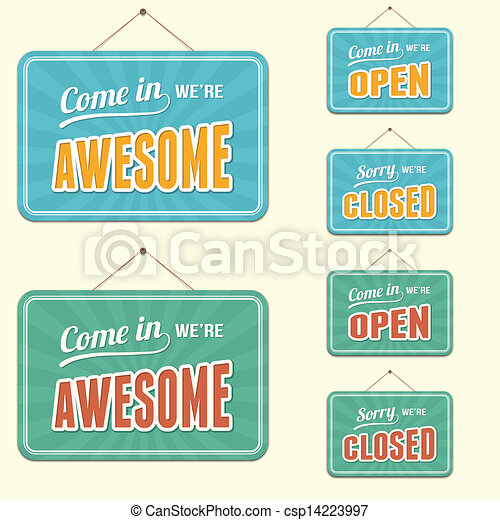 open/closed, sinal - csp14223997
