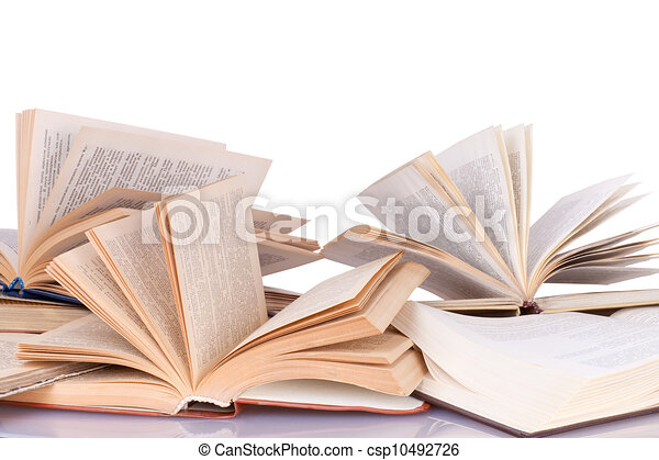 Opened books - csp10492726