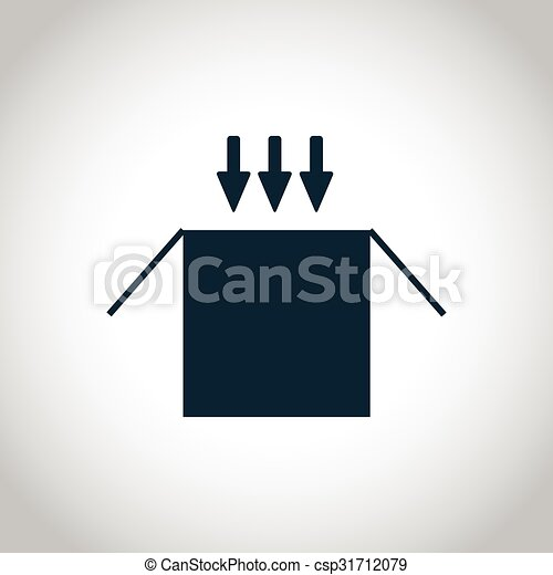 Opened cardboard package box icon - csp31712079