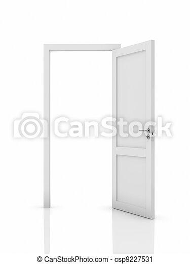 Opened door - csp9227531