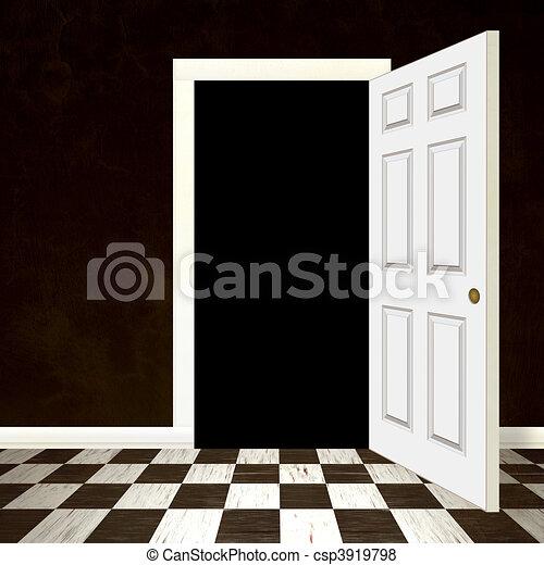 Opened Door Entrance - csp3919798