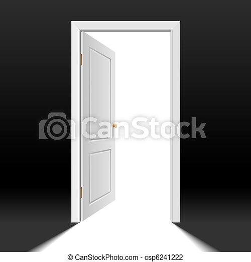 Opened Door Vector & Vector photorealistic illustration of an opened door vector ...
