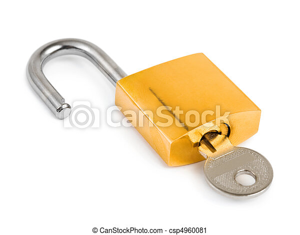Opened lock and key - csp4960081