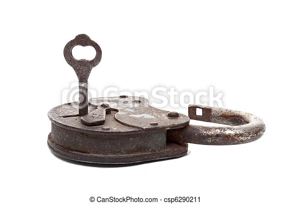 Opened lock and key - csp6290211