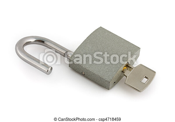 Opened lock and key - csp4718459