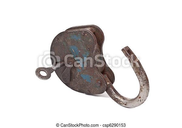 Opened lock and key - csp6290153