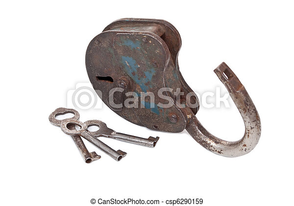Opened lock and keys - csp6290159