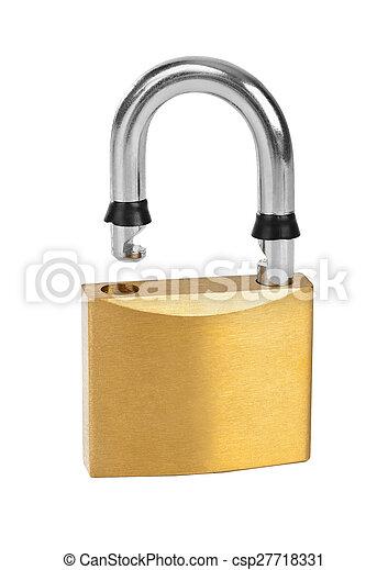 Opened lock - csp27718331
