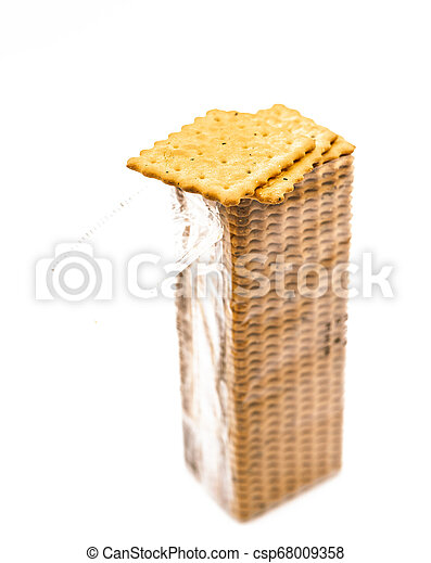 opened pack of the crackers - csp68009358