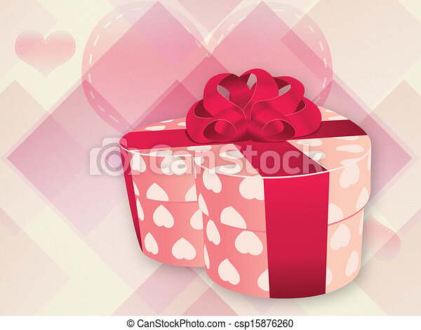 Opened pink heart shaped box - csp15876260 & Opened pink heart shaped box. Illustration of opened heart shaped ...