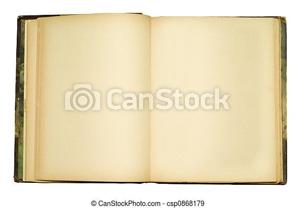openempty, boek, oud - csp0868179