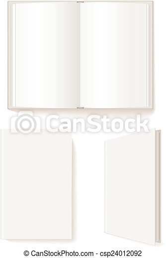 opengeslagen boek, boek, gesloten - csp24012092