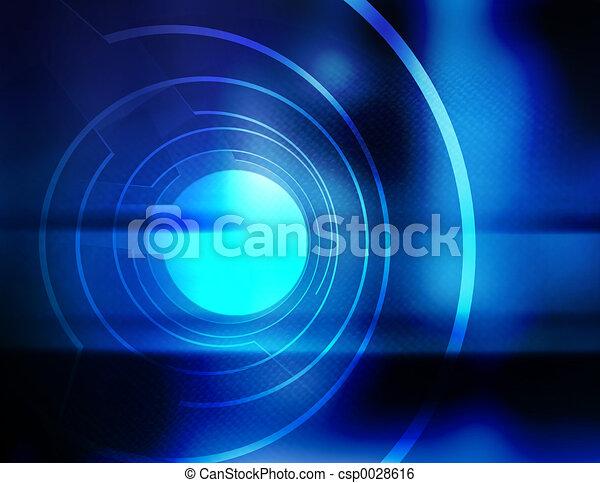 opening, blauwe  - csp0028616