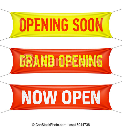 Opening Soon, Grand Opening - csp18044738