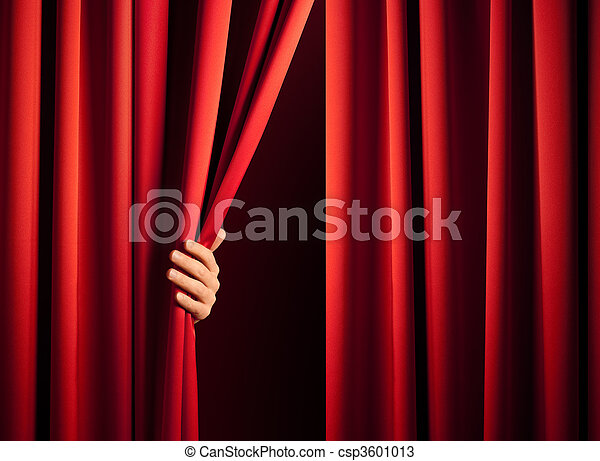 opening the curtain - csp3601013