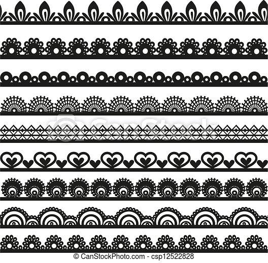 openwork, dentelle, frontières - csp12522828