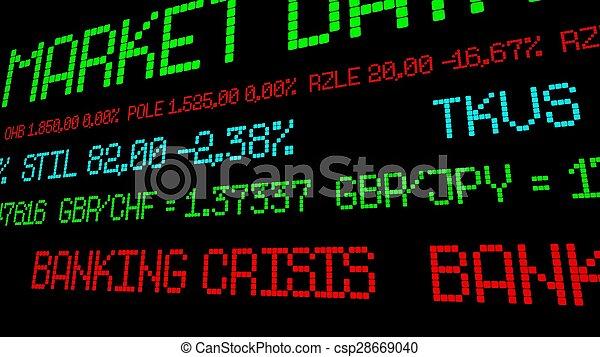 operação bancária, crise - csp28669040