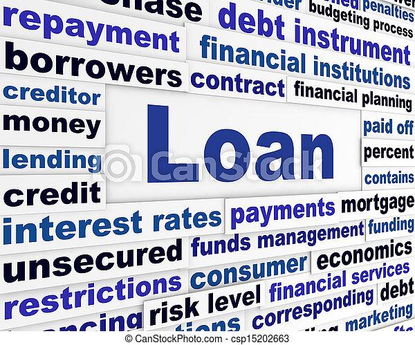 operação bancária, empréstimo, conceito, criativo - csp15202663