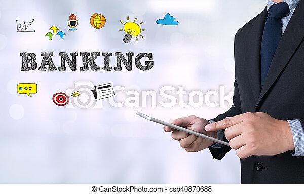 operação bancária - csp40870688