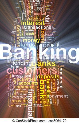 operação bancária, glowing, conceito, fundo - csp6964179