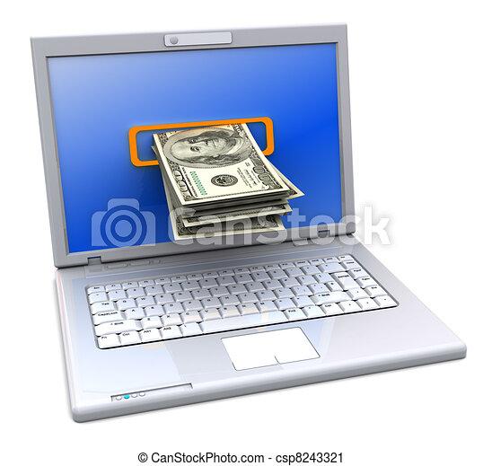operação bancária, internet - csp8243321
