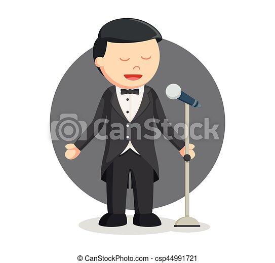 opera singer man color vector illustration search clipart rh canstockphoto com Singer Clip Art Female Singer Clip Art