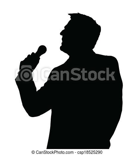 Opera singer silhouette. Single male opera singer with ...   404 x 470 jpeg 26kB