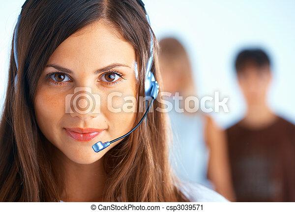 operador, centro de la llamada - csp3039571
