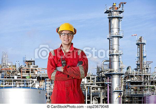 operador, producto petroquímico, fábrica - csp23679048
