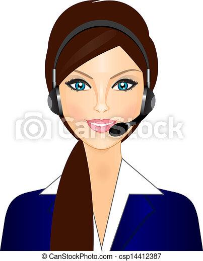 Telefonista sonriente - csp14412387