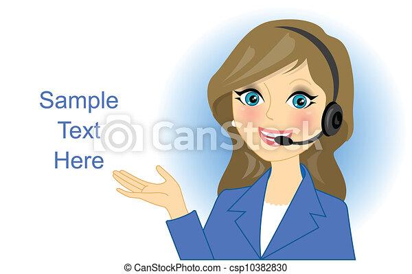 Vector telefonista - csp10382830