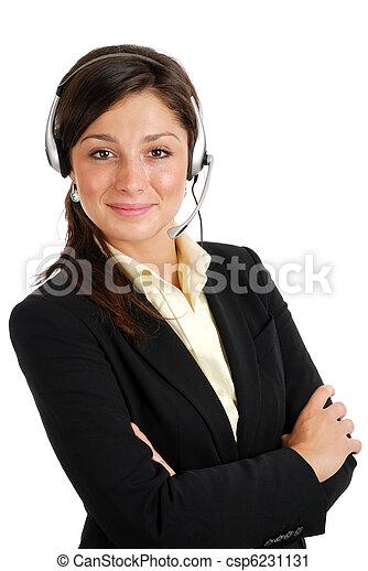 operatör, option att köpa centrera, kvinnlig - csp6231131