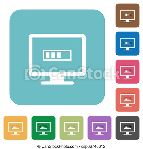 Operation in progress rounded square flat icons - csp66746612